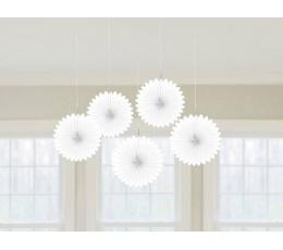 Riputatav dekoratsioon-lehvik, valge (5 tk)