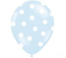 Õhupall, helesinine - täpline (30 cm) 1