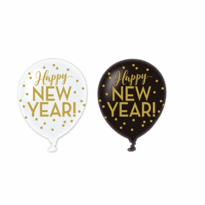 "Õhupallid ""Happy New Year"" (6 tk./27,5 cm)"