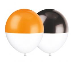 Õhupallid mustad-oranžid (6 tk./30 cm)