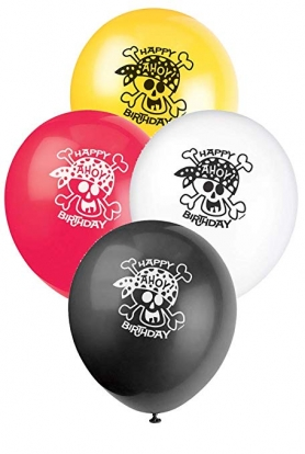 """Õhupallid """"Piraadid"""" (8 tk./30 cm)"""