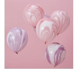 Õhupallid, roosakas lillakas marmor (8 tk./30 cm)