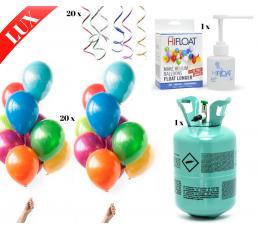 """LUX õhupallide komplekt heeliumiga """"Värviline"""" (tee ise)"""