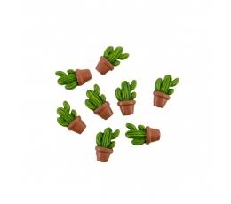 """3D-dekoratsioonid/kleebised """"Kaktused"""" (8 tk / 3 cm)"""