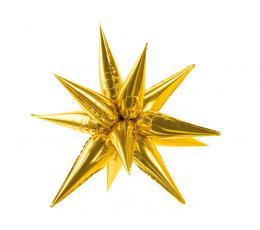 """3D-õhupall """"Kuldne täht"""" (70 cm)"""