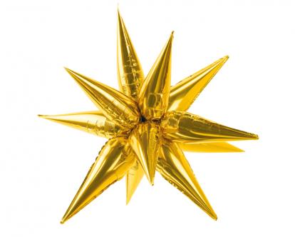 """3D-õhupall """"Kuldne täht"""" (95 cm)"""