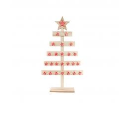 """Advendikalender """"Puidust jõulupuu"""" (40x8x73 cm)"""