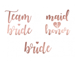 "Ajutised tattood  ""Team bride"" (13 tk.)"