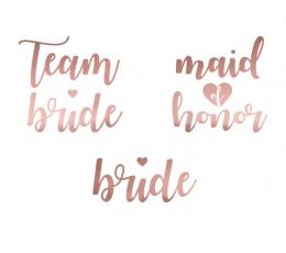 """Ajutised tattood  """"Team bride"""" (13 tk.)"""