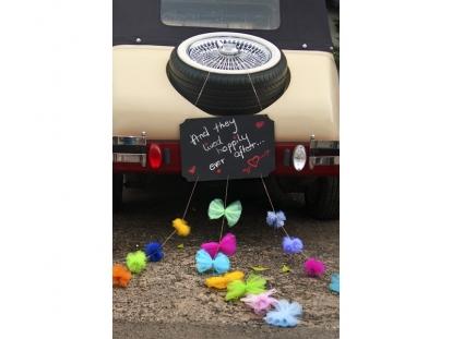 Auto dekoratsioon, kriit lintidega