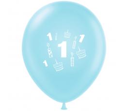 """Õhupall """"Esimene sünnipäev"""", helesinine (30 cm)"""