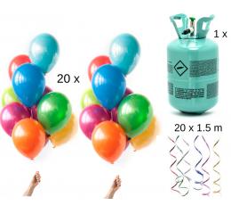"""Heeliumiga õhupallikomplekt """"Värviline"""" (tee ise)"""