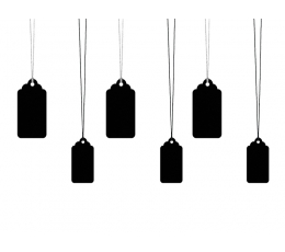 Dekoratiiv etiketid, kriit (6 tk.)