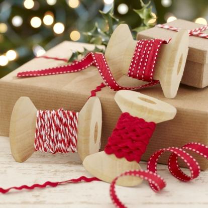 """Dekoratiiv paelad """"Punased Jõulud"""" (3 tk.)"""