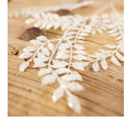 Dekoratiivne oks, valge läikiv