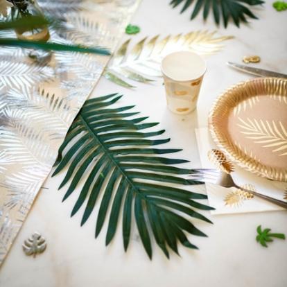 Dekoratiivne palmileht koos varrega (35x21 cm)