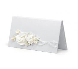Dekoratiivne rahaümbrik, valge lilledega (1 tk)