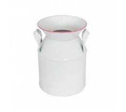 Dekoratiivne roosa äärisega piimakann (12x17 cm)