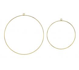 Dekoratiivsed rõngad, kuldsed (2 tk)