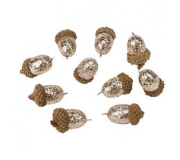 Dekoratiivsed tammetõrud, kuldsed (10 tk. 3,5 cm)