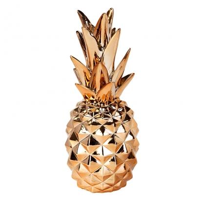 "Dekoratsioon ""Ananass"" roosakas-kuldne (24 cm)"