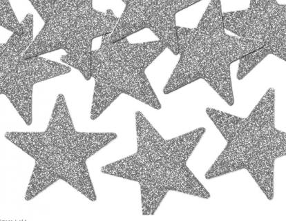 """Dekoratsioon """"Hõbedased tähed"""" (8 tk./5 cm)"""