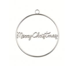 """Dekoratsioon """"Merry Christmas"""", hõbedane metallist"""