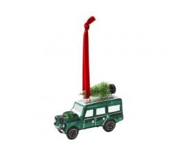 """Dekoratsioon - jõulupuu mänguasi """"Roheline džiip"""""""