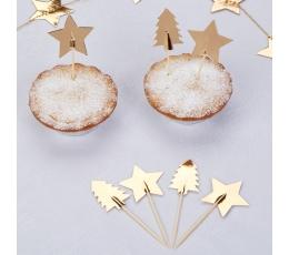 """Dekoratsiooni tikud """"Kuldsed jõulud"""" (20 tk.)"""