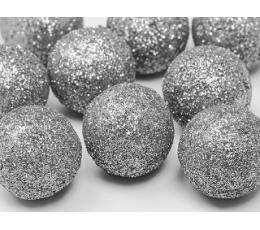 Dekoratsioonid - pallid, hõbedased (9 tk./3 cm)