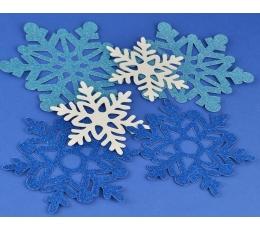 """Dekoratsioonid """"Säravad lumehelbed"""" (6 tk.)"""