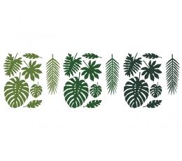 """Dekoratsioonid """"Troopilised lehedi"""" (21 tk.)"""