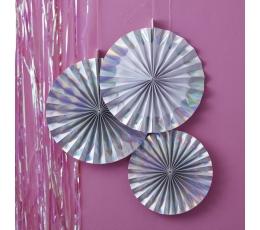 Dekoratsioonid - lehvikud, pärlmutter (3 tk.)