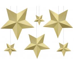 """Dekoratsioonide komplekt """"Kuldtähed"""" (6 tk.)"""