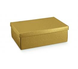 Kinkekarp kaanega, kuldne (30X23X11 cm)
