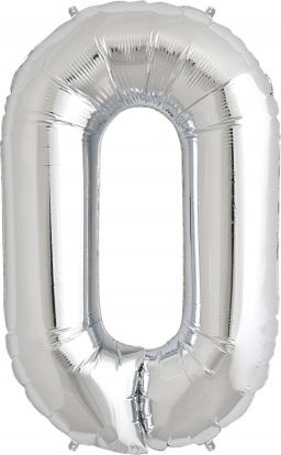 """Fooliumist õhupall """"0"""", hõbedan (85 cm)"""