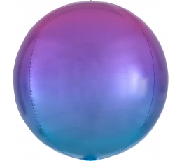 Fooliumõhupall-orbz, roosakas-sinine ombre (38 cm)