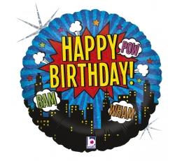 """Fooliumist õhupall """"Superkangelase sünnipäev"""" (46 cm)"""