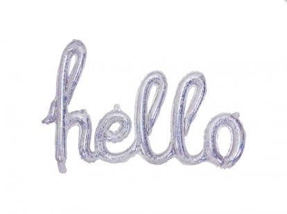 """Fooliumist õhupallide komplekt """"Hello"""", holograafiline"""