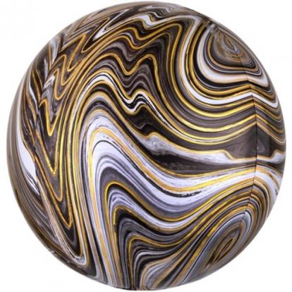 Foolium õhupall-marblez, kuldne mustaga (38x40cm)
