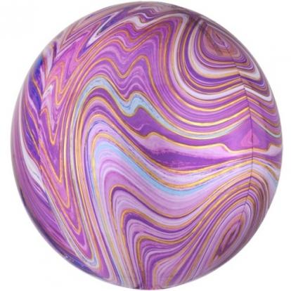 Foolium õhupall-marblez, lilla (38x40cm)