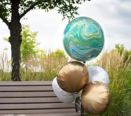 Foolium õhupall-marblez, sinine (38x40cm) 1