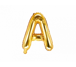 """Fooliumi õhupall-täht """"A"""", kuldne (35 cm)"""