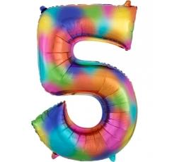 """Fooliumist õhupall """"5"""", vikerkaare värvi (86 cm)"""