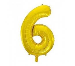 """Fooliumist õhupall """"6"""", kuldne (85 cm)"""