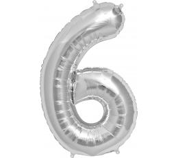 """Fooliumist õhupall """"7"""", hõbedane (85 cm)"""