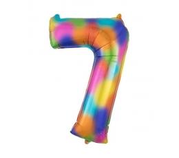 """Fooliumist õhupall """"7"""", vikerkaare värv (88 cm)"""