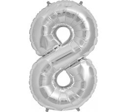 """Fooliumist õhupall """"8"""", hõbedane (85 cm)"""