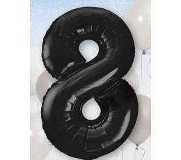 """Fooliumist õhupall """"8"""", must (85 cm)"""