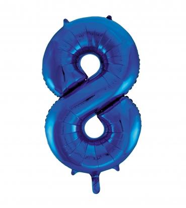 """Fooliumist õhupall """"8"""", sinine (85 cm)"""